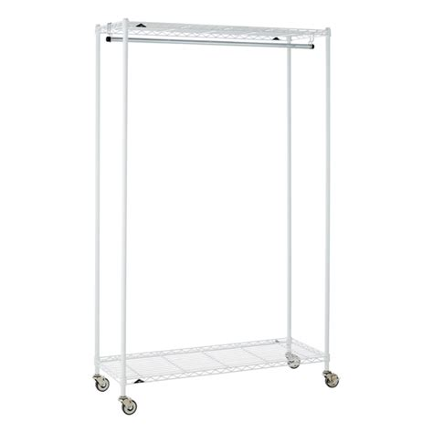 White Clothes Rack by Intermetro Garment Rack The Container Store