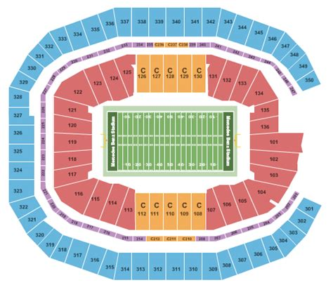 atlanta falcons seating chart prices mercedes stadium tickets and nearby hotels 441 m l