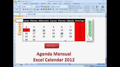 como crear layout en excel c 243 mo crear un calendario excel 2013 con agenda incorporada