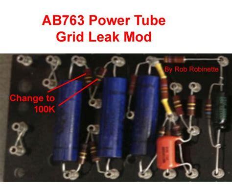 220k grid resistor ab763 mods
