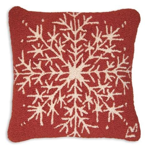 Chandler 4 Corners Pillows by Snowflake Hooked Pillow By Chandler 4 Corners The