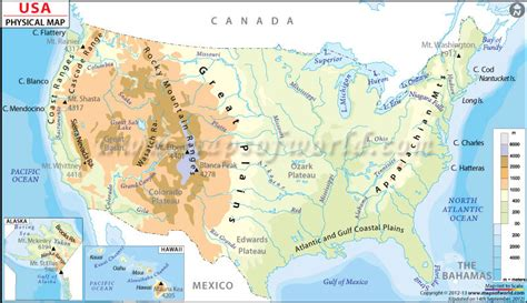 usa and canada physical features map mr markwald s american history extravaganza january 2013