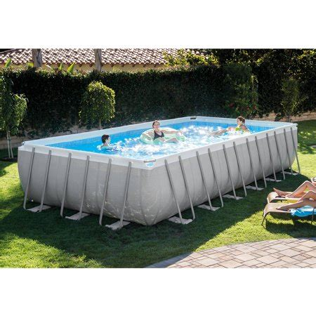 12 x 52 pool intex 24 x 12 x 52 quot ultra frame rectangular above ground