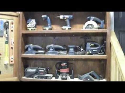 Tool Display Cabinet   Workshop Organization Ideas   YouTube