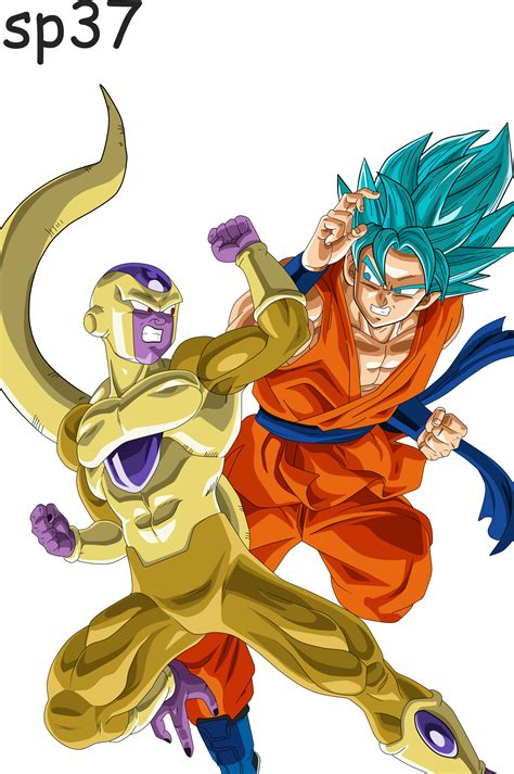 imagenes de goku golden goku dios vs golden freezer by supergoku37 on deviantart