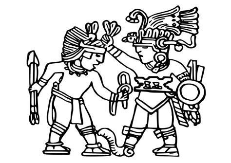 imagenes aztecas para descargar dibujo para colorear murales aztecas img 25572