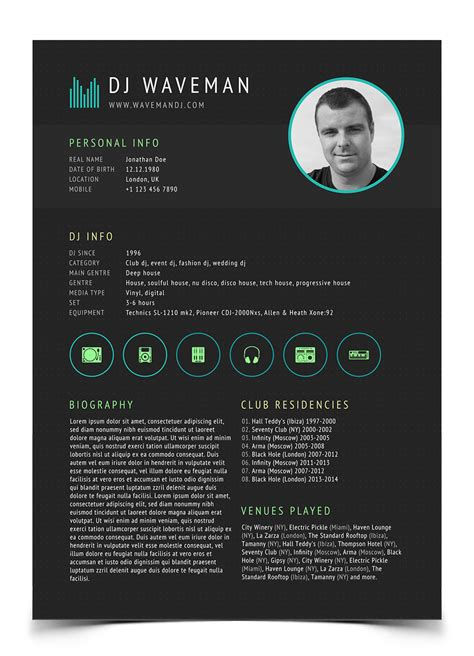 search results for personal biography template