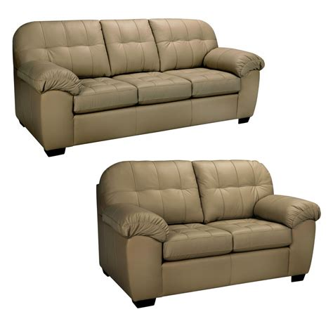 sofa and loveseat taupe leather sofa and loveseat ebay