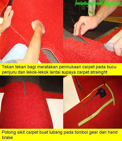 Karpet Lantai Kereta Wira starting automobil diy pemasangan carpet merah