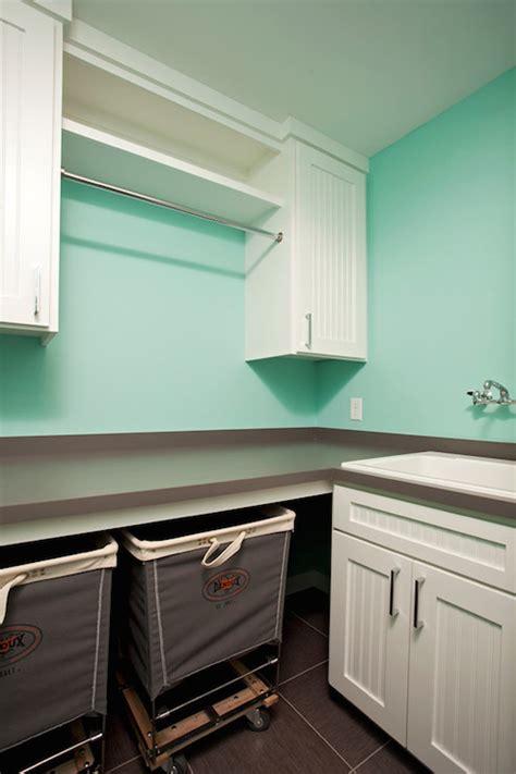 tiffany blue laundry room transitional laundry room
