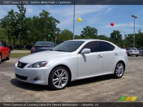 white lexus is 250 interior starfire white pearl 2007 lexus is 250