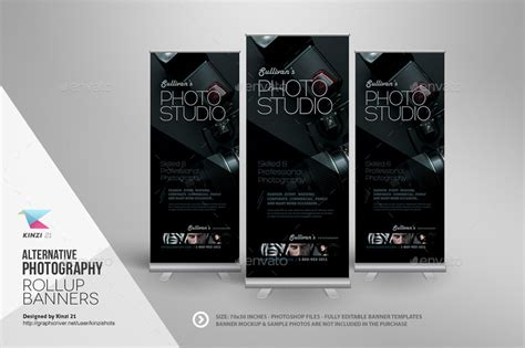 photography banner template alternative photography roll up banners by kinzishots graphicriver