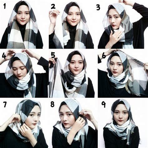 tutorial hijab pashmina simple terbaru 2015 pin tutorial hijab simple newsviva on pinterest