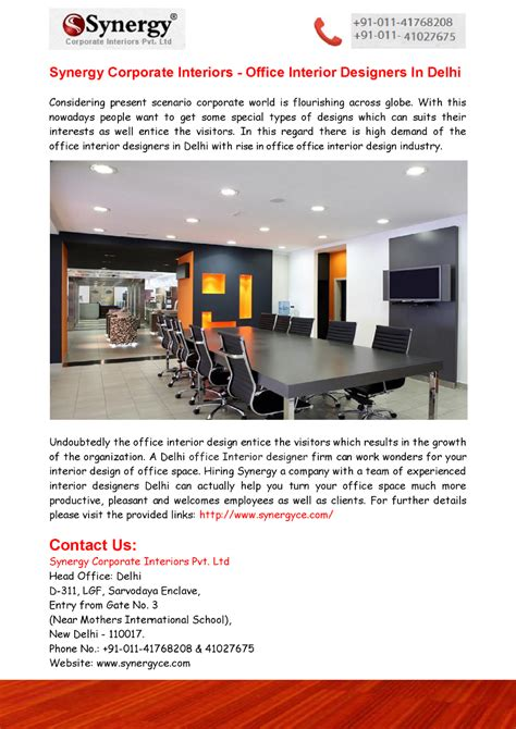 Synergyce Is One Of The Synergy Corporate Interiors Office Interior Designers In