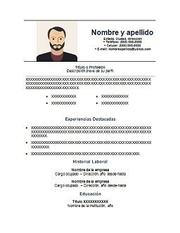 Modelos De Curriculum Vitae Para Rellenar Argentina Curriculum Vitae Para Completar Gratis Y En Espa 241 Ol