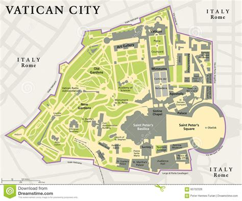 vatican city political map stock vector image 60702326