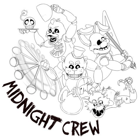 Fnaf 4 Coloring Pages by Fnaf 4 Coloring Pages All Characters To Print Coloring