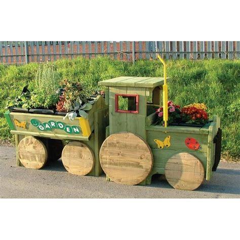 garden tractor flower bed planter trough sports