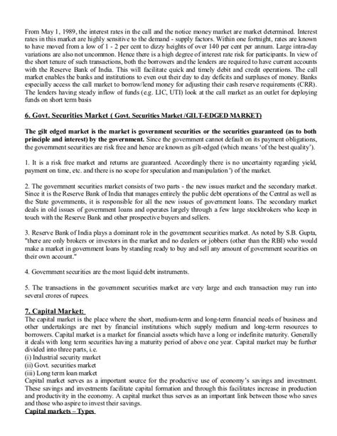 Bput Mba Syllabus by Financial Markets And Institutions Notes As Per Bput