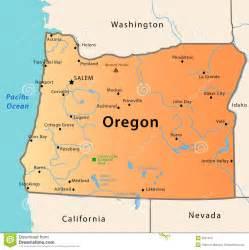 oregon usa map oregon map stock images image 9637014