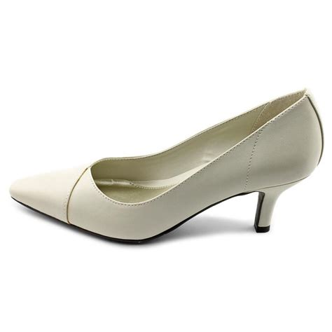 white pumps shoes easy easy chiffon womens x wide faux leather