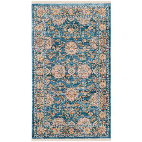 safavieh vintage turquoise multi 5 safavieh vintage turquoise multi 3 ft x 5 ft area rug vtp469k 3 the home depot