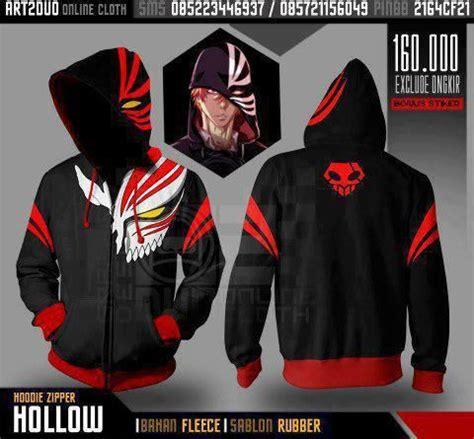 design jacket anime hollow ichigo hoodie bleach pinterest awesome dr