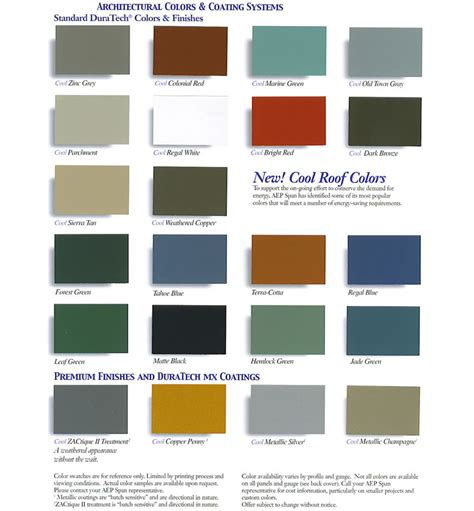 valspar color chart high quality metal roofing panels
