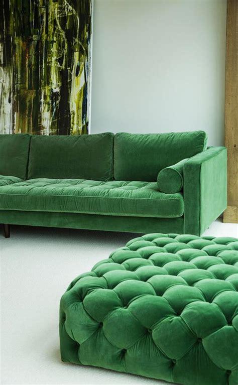 canapé extérieur vert chambre feng shui