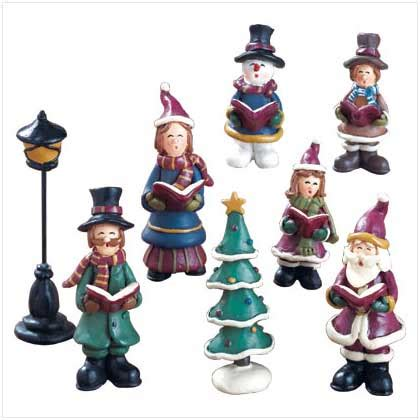 fa la la christmas figurines snowglobes figurines ochristmas trees your store shopping catalog