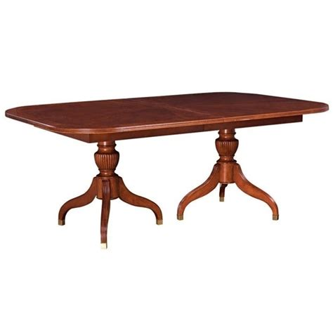 american drew cherry grove pedestal formal dining table in