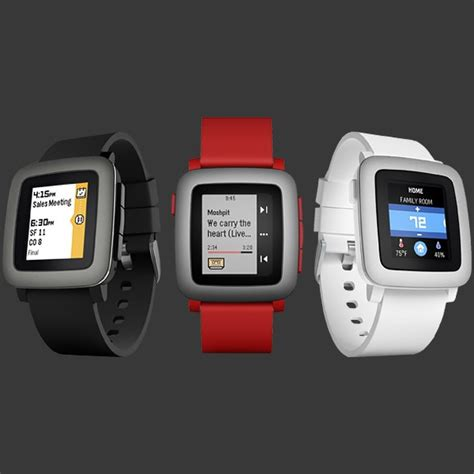Smartwatch Pebble Time Pebble Time Smartwatch Iphone