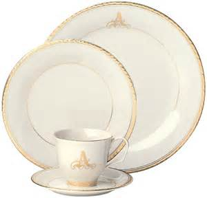 monogrammed dishes pickard china reflection collection made in america