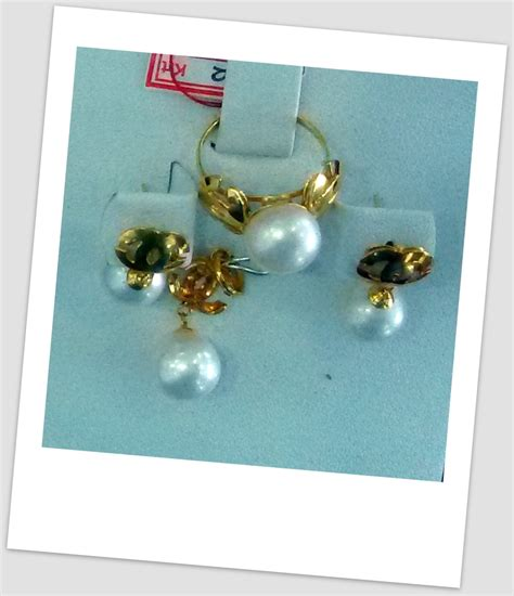 Set Emas Mutiara Air Laut 16 07 satu set perhiasan mutiara harga mutiara lombok asli murah toko emas onlineterpercaya jual