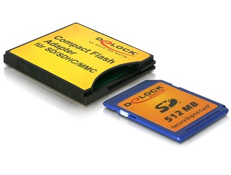 Memory Card Compact Flash delock products delock compact flash adapter for sd mmc memory cards