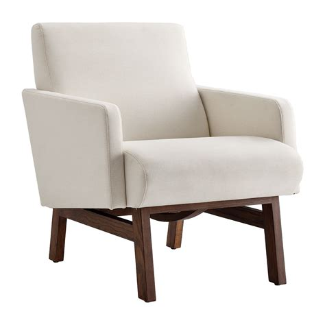 Life Interiors Asher Arm Chair Cream Modern Arm Living Room Chairs With Arms