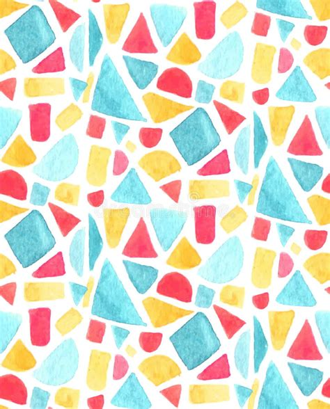 seamless mosaic pattern vector seamless mosaic pattern with watercolor tiles stained
