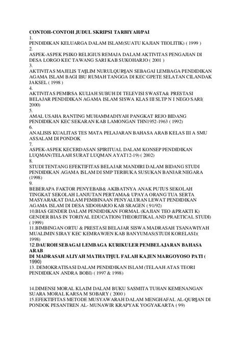 aturan dalam membuat judul skripsi contoh proposal skripsi pai tarbiyah pdf download