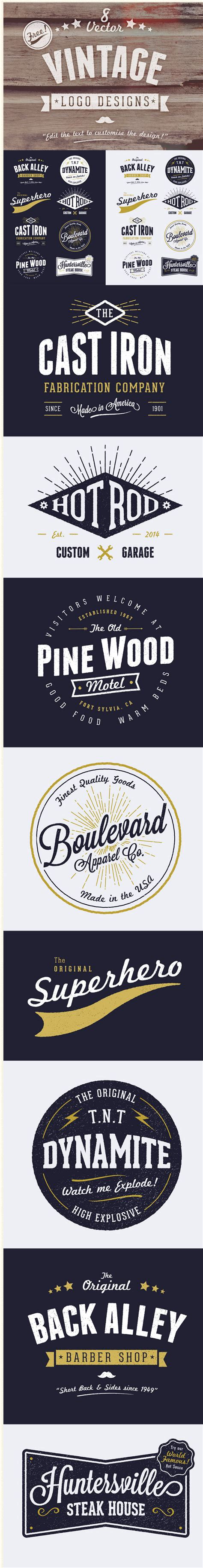 desain logo online gratis vector vintage gratis untuk desain logo