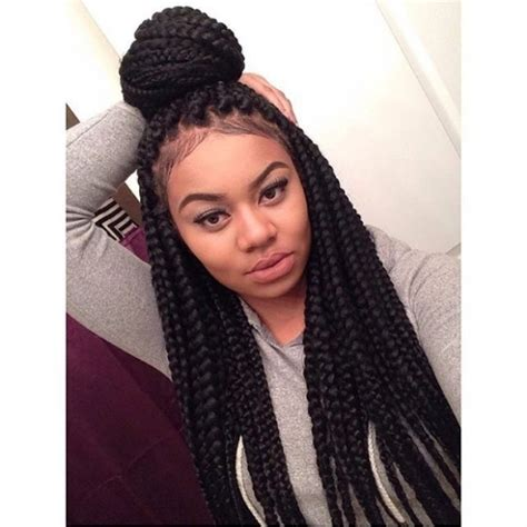 Large Box Braids Hairstyles by Excellent Best 20 Medium Sized Box Braids Ideas On