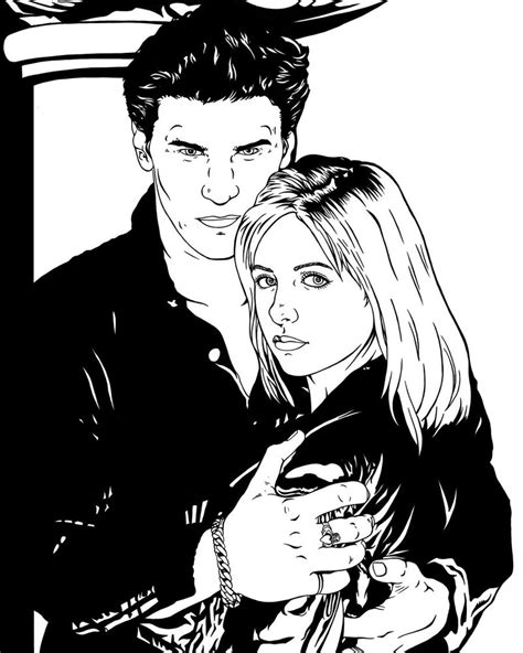 Buffy The Vire Slayer Coloring Pages Buffy And Angel By Frostdusk On Deviantart by Buffy The Vire Slayer Coloring Pages