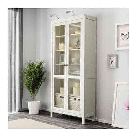 Ikea Hemnes Cabinet White by Hemnes Glass Door Cabinet White Stain Dining Living