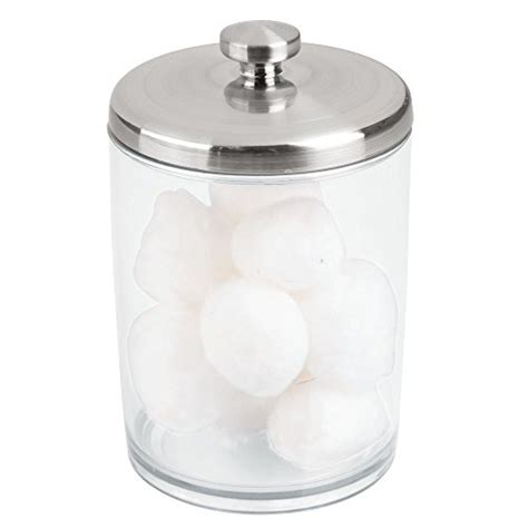 cotton ball jar bathroom interdesign gina bathroom vanity canister jar for cotton