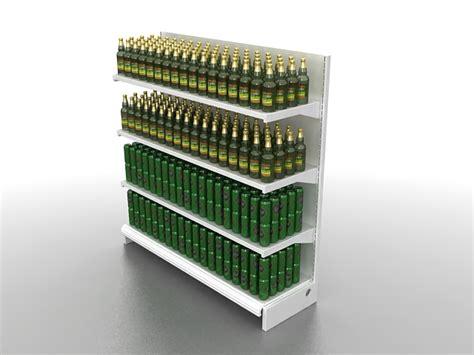 supermarket beverage shelf 3d model 3ds max files free