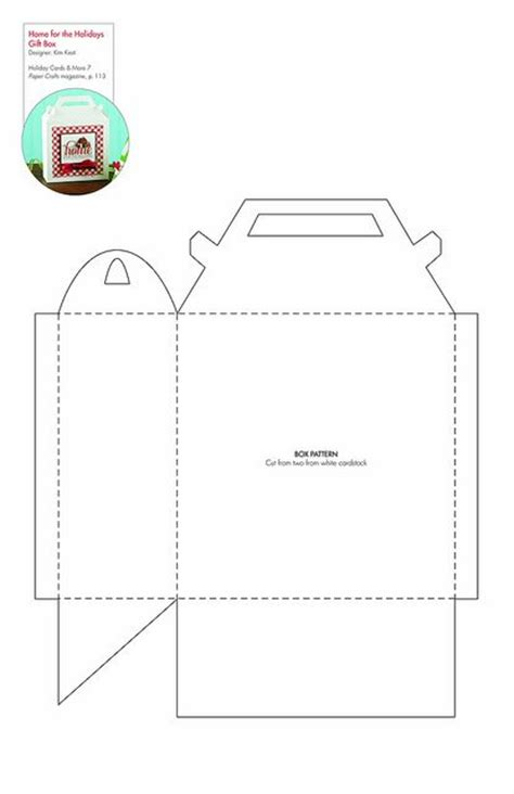 home for the holidays gift box free pattern template downloadable paper crafting cricut