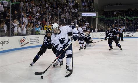 bentley hockey penn state downs bentley 3 2 onward state