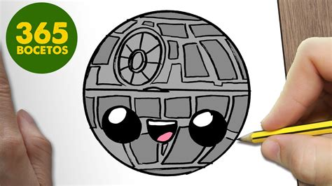 imagenes kawaii de star wars como dibujar estrella de la muerte emoticonos whatsapp