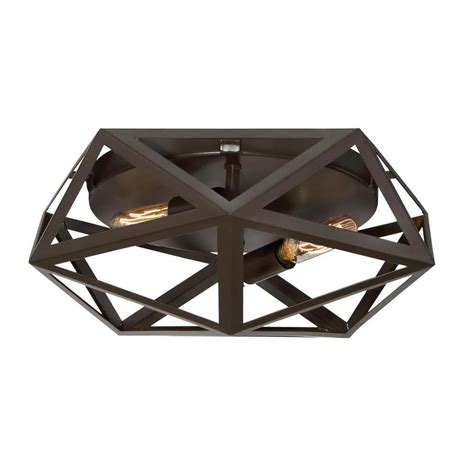 Quoizel Flush Mount Ceiling Light Shop Quoizel Liberty Park 13 In W Bronze Ceiling Flush Mount Light At Lowes