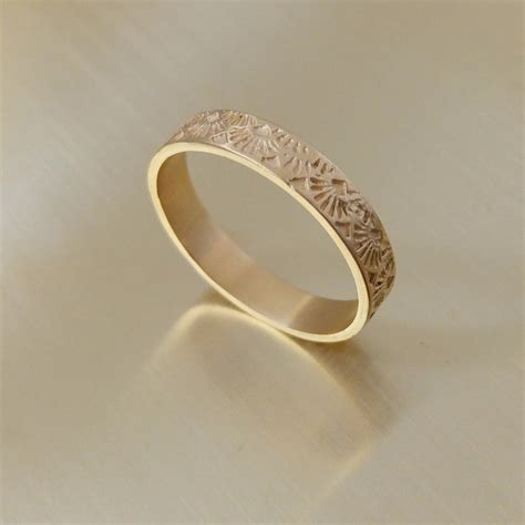 deco wedding bands deco ring womens wedding band gold deco style