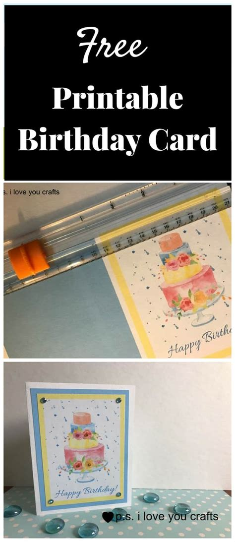 make your own birthday card and print it free first birthday